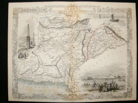 Cabool (Kabul), Afghanistan: 1852 Antique Map. Decorative. Tallis Rapkin